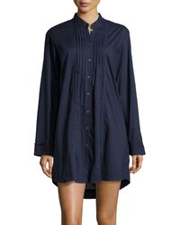 Donna Karan New York Sateen Cotton Sleep Shirt - Lyst