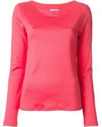 Courreges Pink Logo Sweatshirt - Lyst
