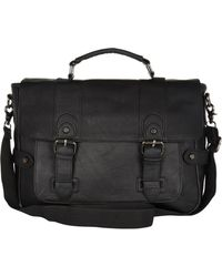 River Island B Black Satchel - Lyst