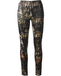 Donna Karan New York Abstract Printed Trousers - Lyst