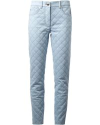 Moschino Quilted Trousers - Lyst