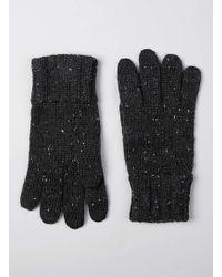 TOPMAN - Charcoal Neppy Gloves - Lyst