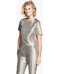H&M Metallic Top - Lyst