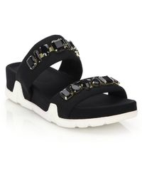 Ash | Embellished Oman Wedge Slide Sandals | Lyst