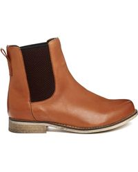 Asos Au Revoir Leather Chelsea Ankle Boots - Lyst