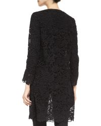 Ralph Lauren Black Label Thora Lace Duster Coat - Lyst