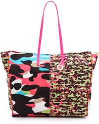M Missoni - Camouflage Canvas Tote Pink - Lyst
