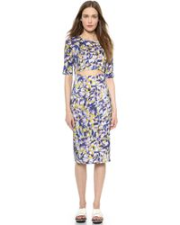 Suno Cutout Dress - All Over Tulip Large - Lyst
