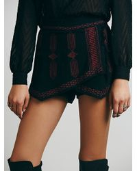 Free People Tribal Embroidered Skort - Lyst