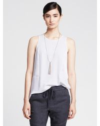 Banana Republic Pieced Shine Tank - Lyst