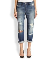 Marc By Marc Jacobs Taylor Destroyed Boyfriend Jeans - Lyst