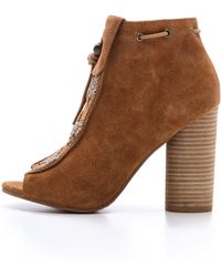 House of Harlow 1960 - Max Suede Booties - Black - Lyst