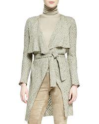 Ralph Lauren Collection Helene Drape-neck Sweater-knit Jacket - Lyst