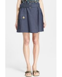 Marc Jacobs Melange Suiting Skirt - Lyst