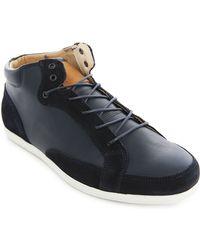Piola Slippery Elm Navy Leather Sneakers - Lyst