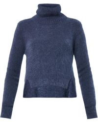 Band Of Outsiders Rollneck Cropped Sweater - Lyst