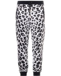 Versus  Animal Print Sweatpants - Lyst