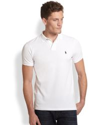 Polo Ralph Lauren Customfit Cotton Mesh Polo - Lyst