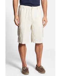 Tommy Bahama Men'S 'Linen On The Edge' Linen Cargo Shorts - Lyst