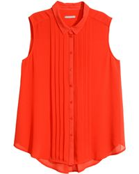 H&M + Sleeveless Blouse - Lyst