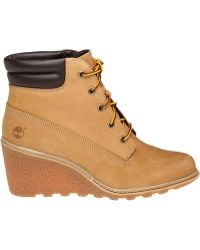 Timberland | Amston Leather Wedge Boots | Lyst