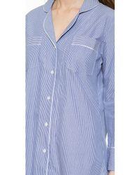 Salua - Striped Boyfriend Pj Shirt - Mediterranean Stripes - Lyst