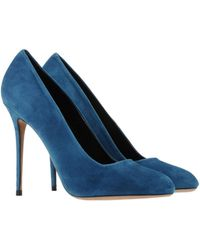 Celine Blue Pump - Lyst