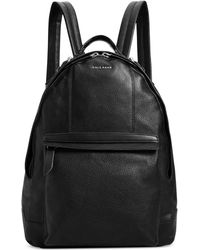 Cole Haan Pebbled Leather Backpack - Lyst