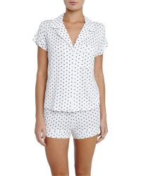 Eberjey   Ikat Heart-print Short Pajama Set   Lyst