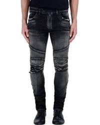 Balmain Denim Pants black - Lyst