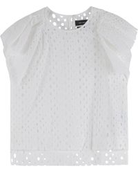 Isabel Marant Broderie Top - Lyst