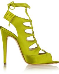 Brian Atwood Satin Sandals - Lyst