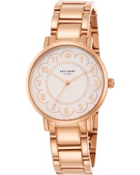 Kate Spade Gramercy Scalloped Mother-Of-Pearl & Rose Goldtone Stainless Steel Bracelet Watch gold - Lyst