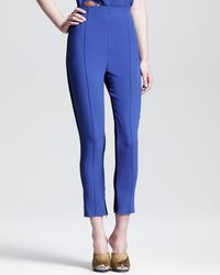Jonathan Saunders Irma Contrast Crepeback Cropped Trousers - Lyst