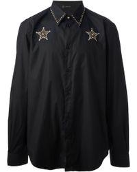 Versace Embellished Star Shirt - Lyst