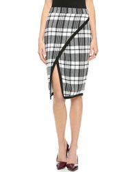 Sea Plaid Wrap Skirt  - Lyst