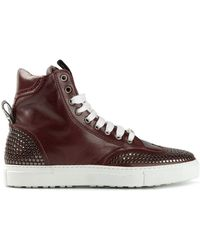 DSquared2 Red Hi-top Sneakers - Lyst