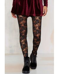Look From London - Nice Stems Lace Tights - Lyst