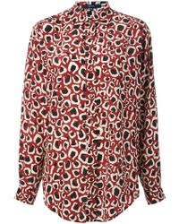 Gucci Red Printed Shirt - Lyst