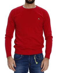Etro Sweater Knit Crew-Neck Cotton With Logo - Lyst