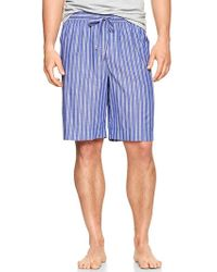 Gap Twin Striped Pj Shorts - Lyst