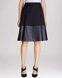 Karen Millen Skirt Faux Leather Aline - Lyst
