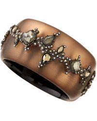 Alexis Bittar Crystal Lace Lucite Hinge Bracelet - Lyst