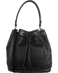 Cole Haan Nickson Leather Drawstring Bag - Lyst