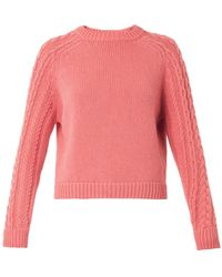 See By Chloé Wool-Blend Knit Sweater - Lyst