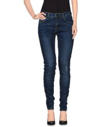 Victoria Beckham Denim Pants blue - Lyst