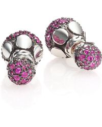 John Hardy   Dot Pink Sapphire & Sterling Silver Stud Earrings   Lyst