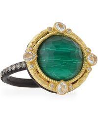 Armenta - Malachite Blue Topaz Diamond & Sapphire Ring - Lyst