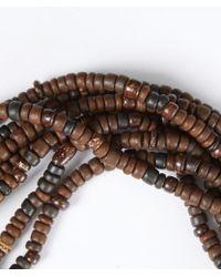 Eskandar - Brown Carved Coconut Beaded Necklace - Lyst