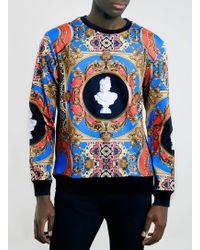 Topman Neoprene Baroque Sweatshirt - Lyst